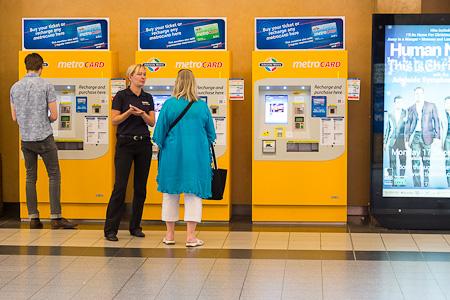 Machines de vente à la gare centrale d'ADELAIDE